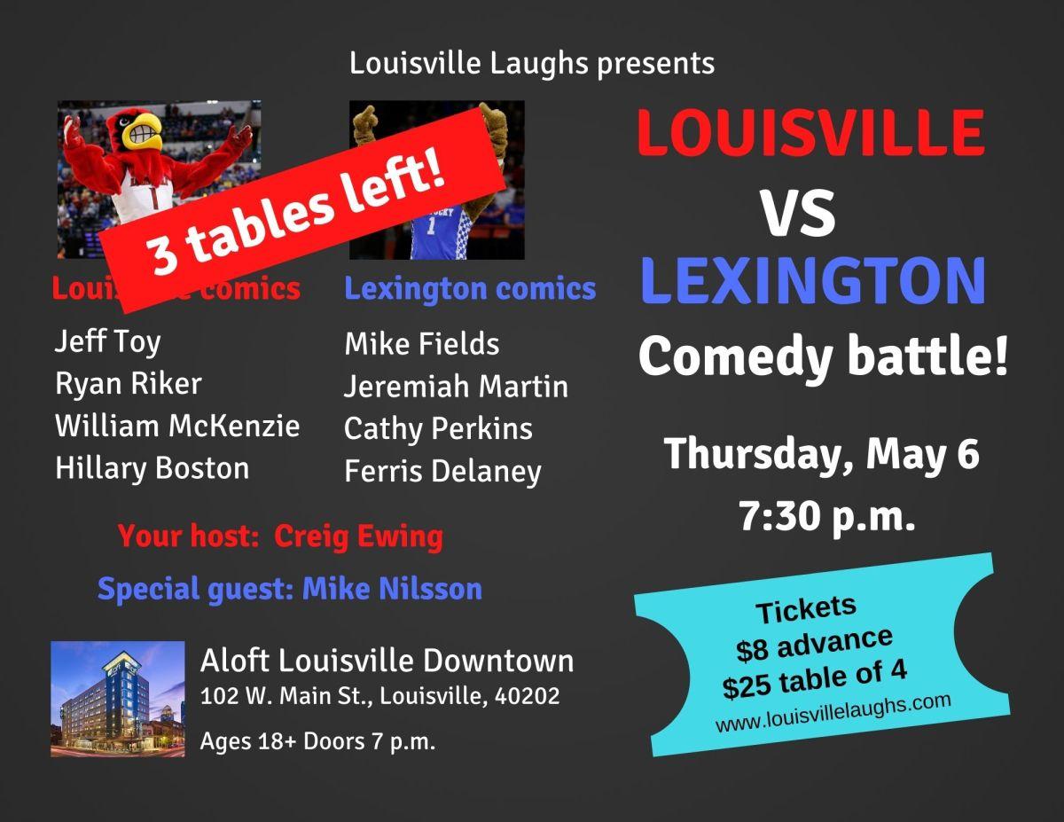 Lineups announced for Louisville vs. Lexington ComedyBattle